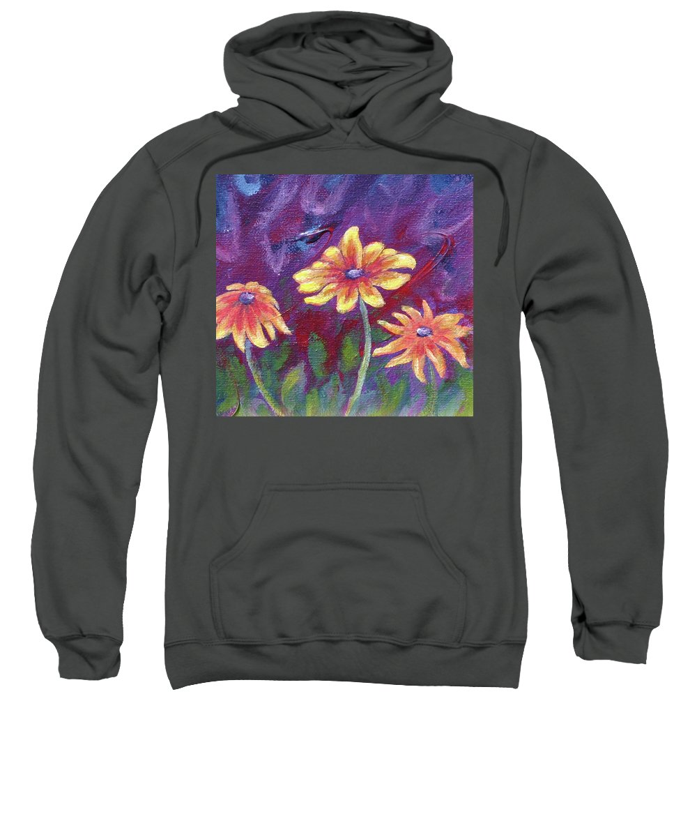 Small Acrylic Painting Sweatshirt featuring the painting Monet's Small Composition by Jennifer McDuffie