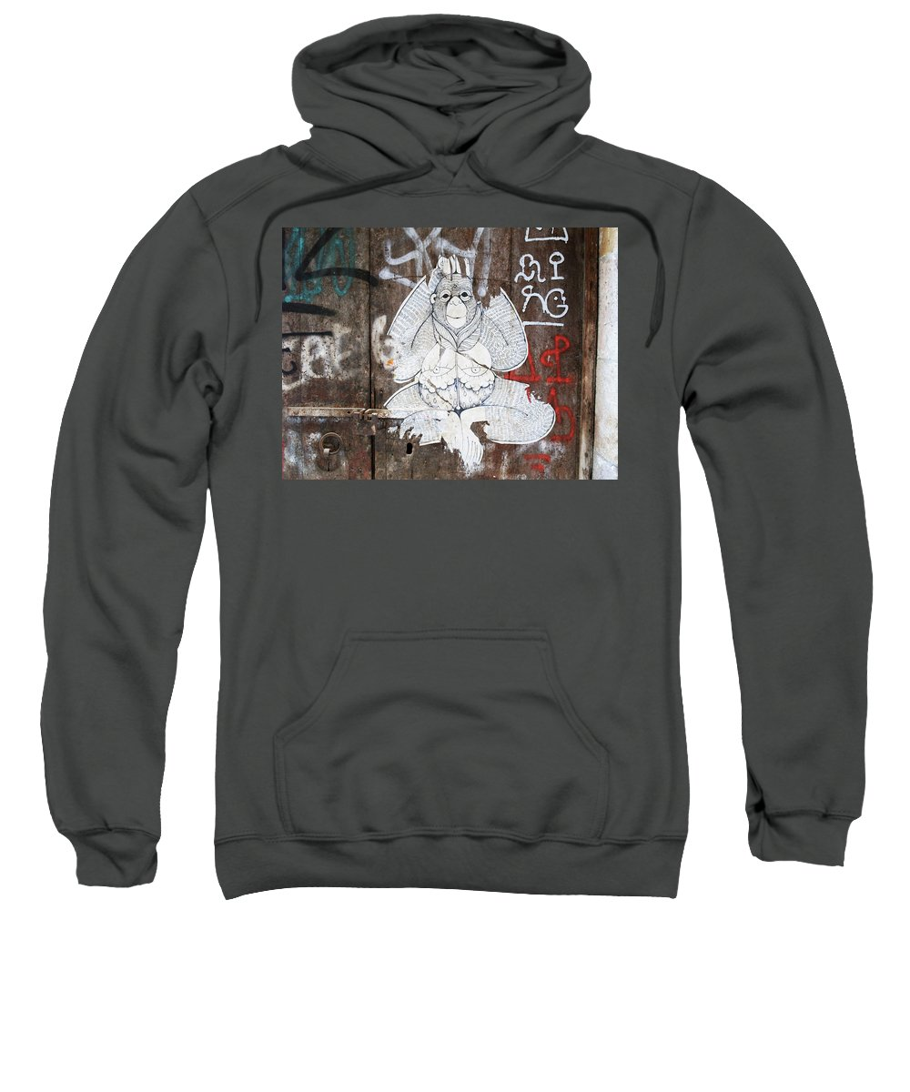 Graffiti Sweatshirt featuring the photograph Monkey With Eyes by Roger Muntes