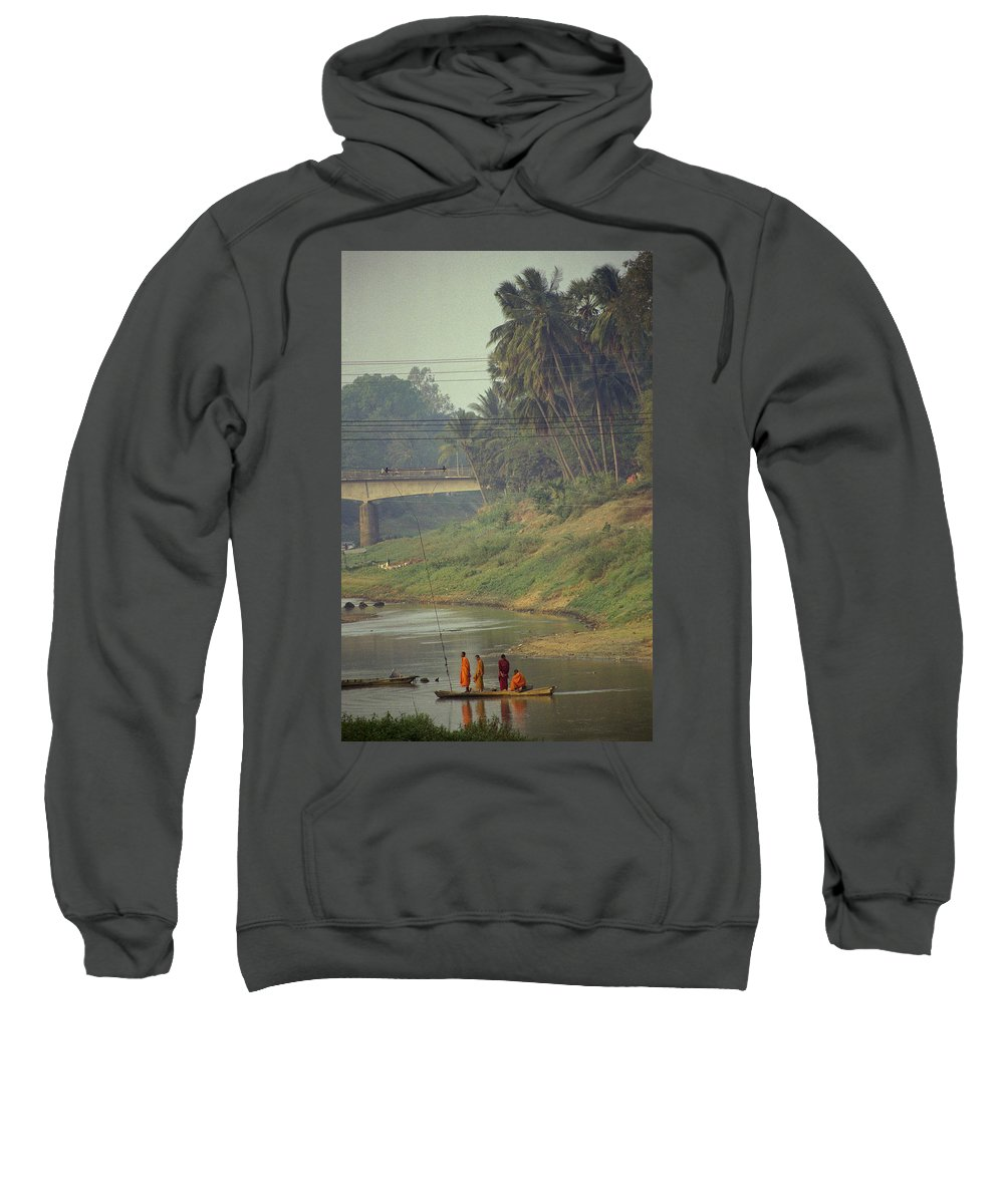 Monks Sweatshirt featuring the photograph Monks - Battambang by Patrick Klauss