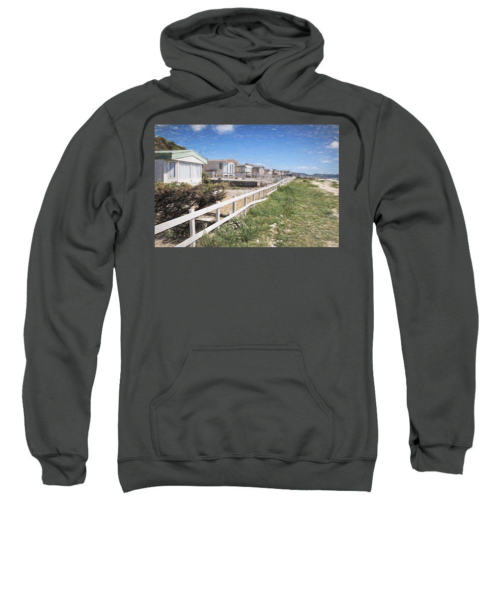 Monmouth Sweatshirt featuring the photograph Monmouth Beach - Impressions by Susie Peek