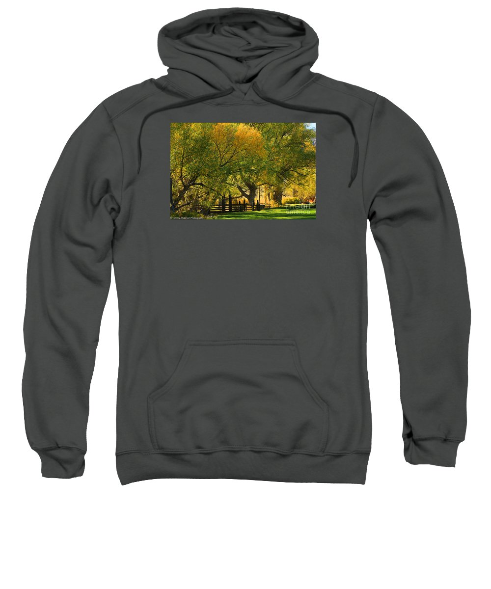 Mono Lake Sweatshirt featuring the photograph Mono Lake Fall In The Mountains by Tommy Anderson
