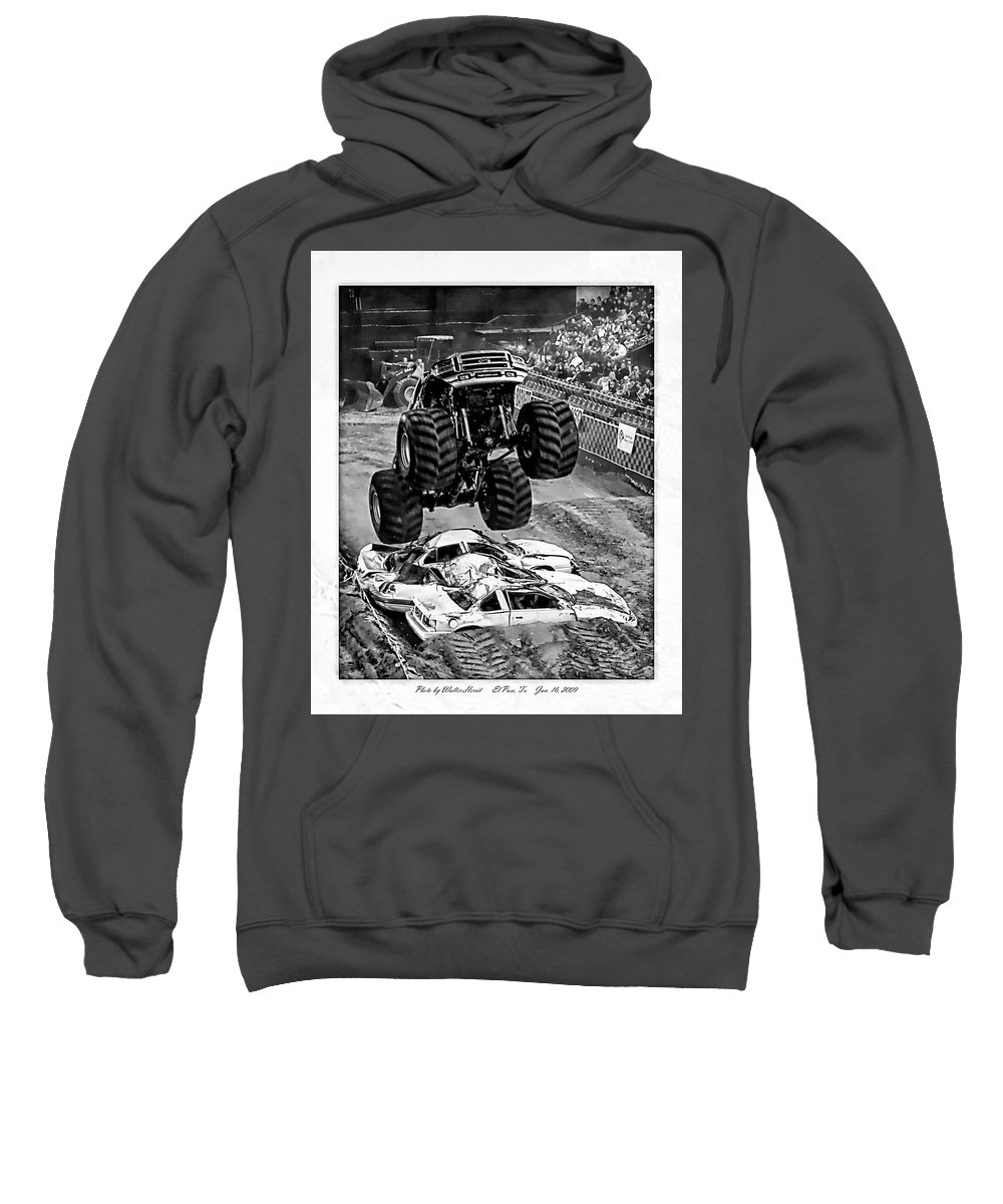 Amp Tour Sweatshirt featuring the photograph Monster Truck 2b by Walter Herrit