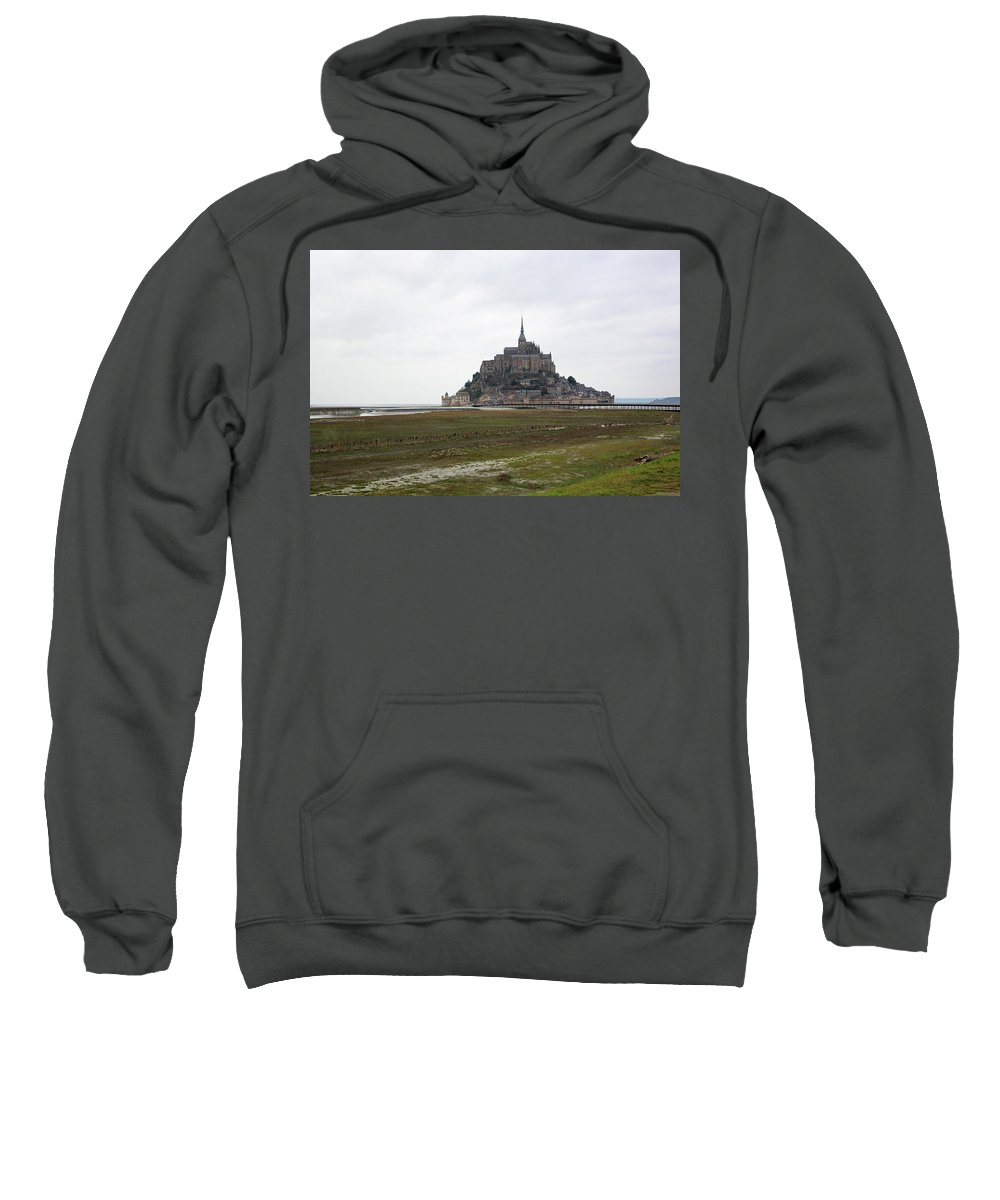 Mont Saint Michel Sweatshirt featuring the photograph Mont Saint Michel by Sierra Vance