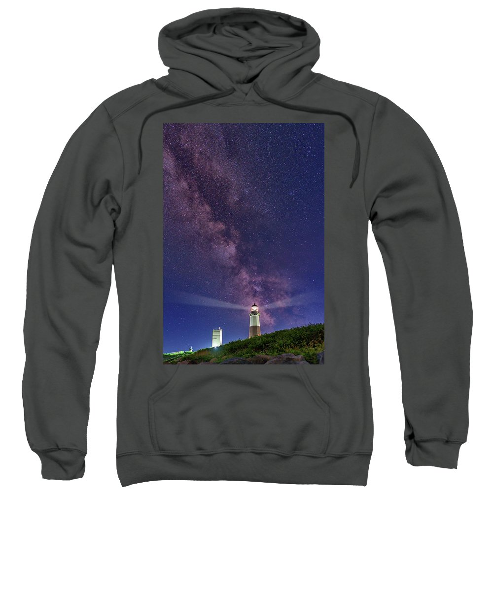Montauk Sweatshirt featuring the photograph Montauk Point And The Milky Way by Rick Berk