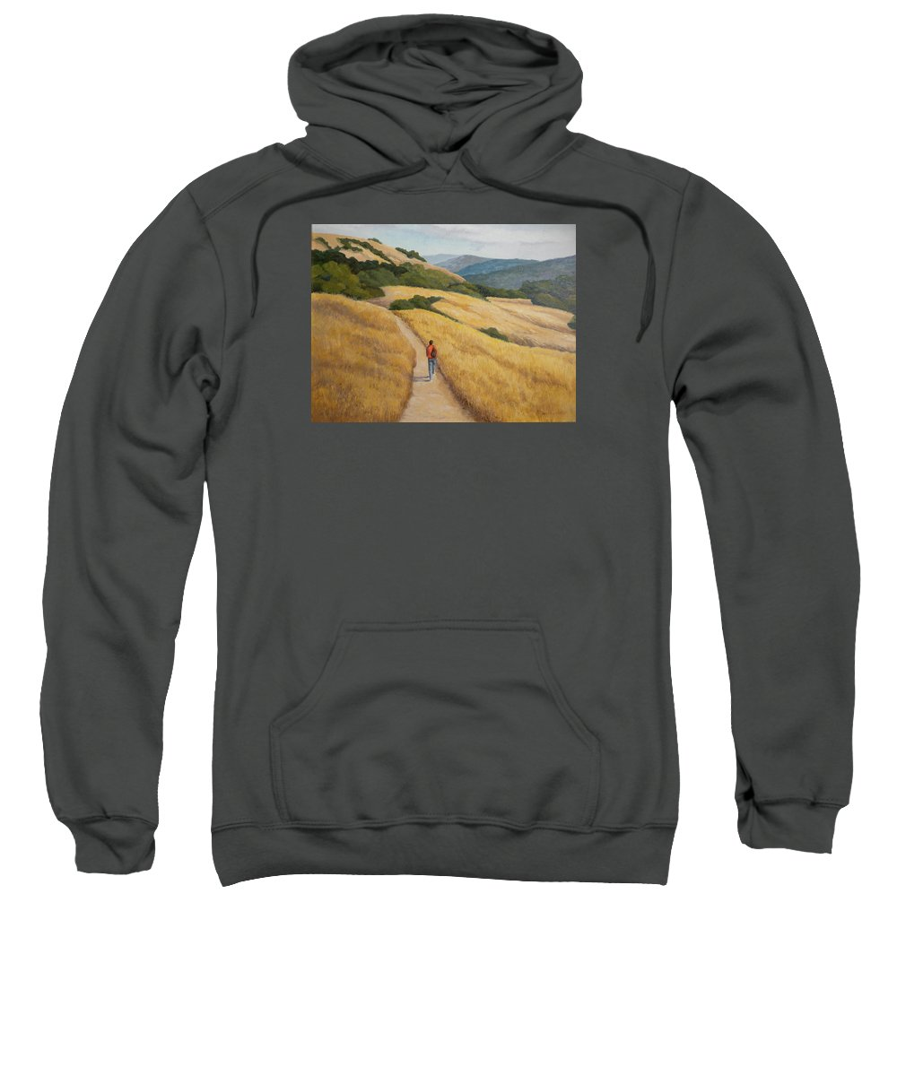 Landscape Sweatshirt featuring the painting Monte Bella Hike by Maralyn Miller