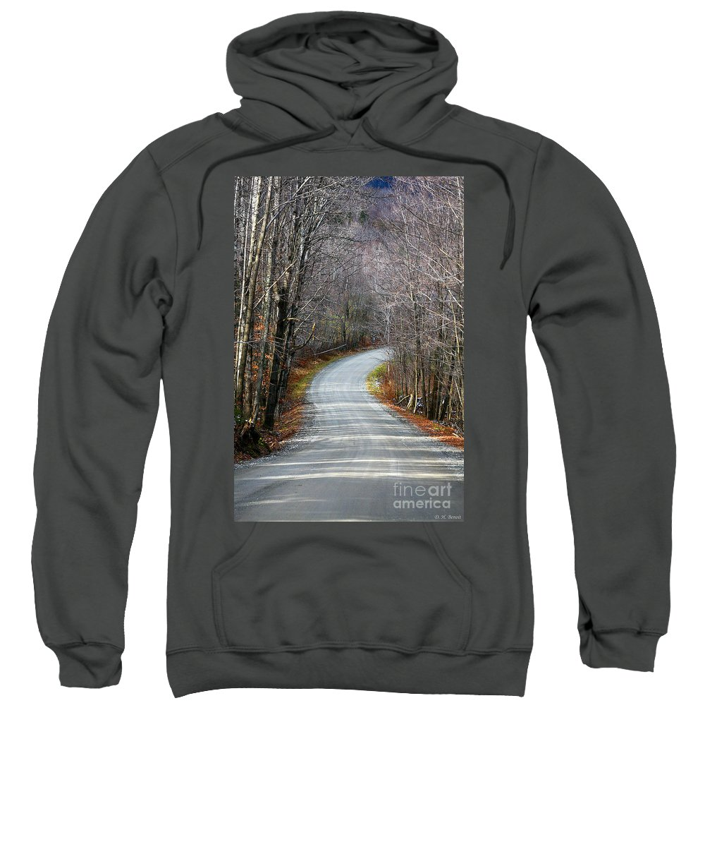 Road Sweatshirt featuring the photograph Montgomery Mountain Road by Deborah Benoit