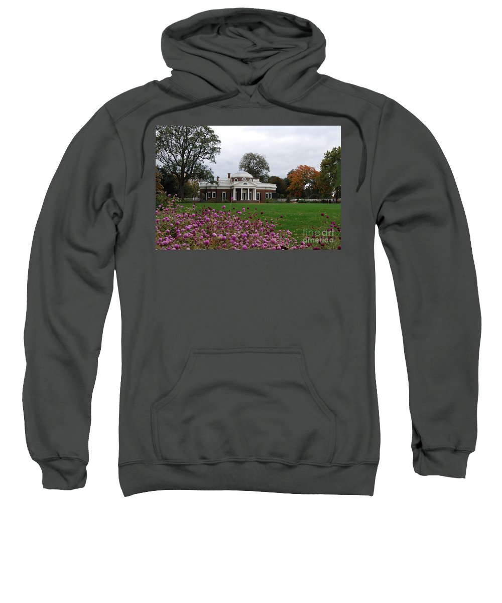 Fall Sweatshirt featuring the photograph Monticello by Eric Liller