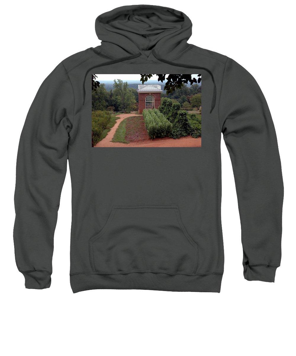 Usa Sweatshirt featuring the photograph Monticello Vegetable Garden Pavilion by LeeAnn McLaneGoetz McLaneGoetzStudioLLCcom
