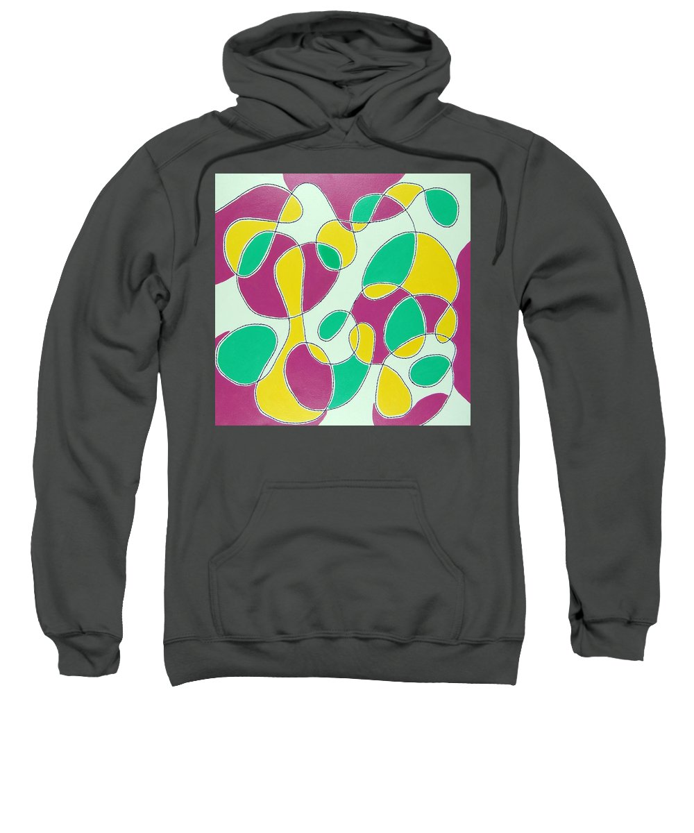 Abstract Sweatshirt featuring the mixed media Mood by Rita Lulay Malsch