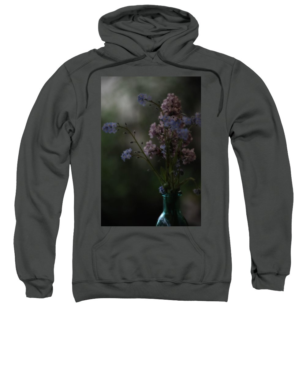 Lilacs Sweatshirt featuring the photograph Moody Bouquet by Bonnie Bruno