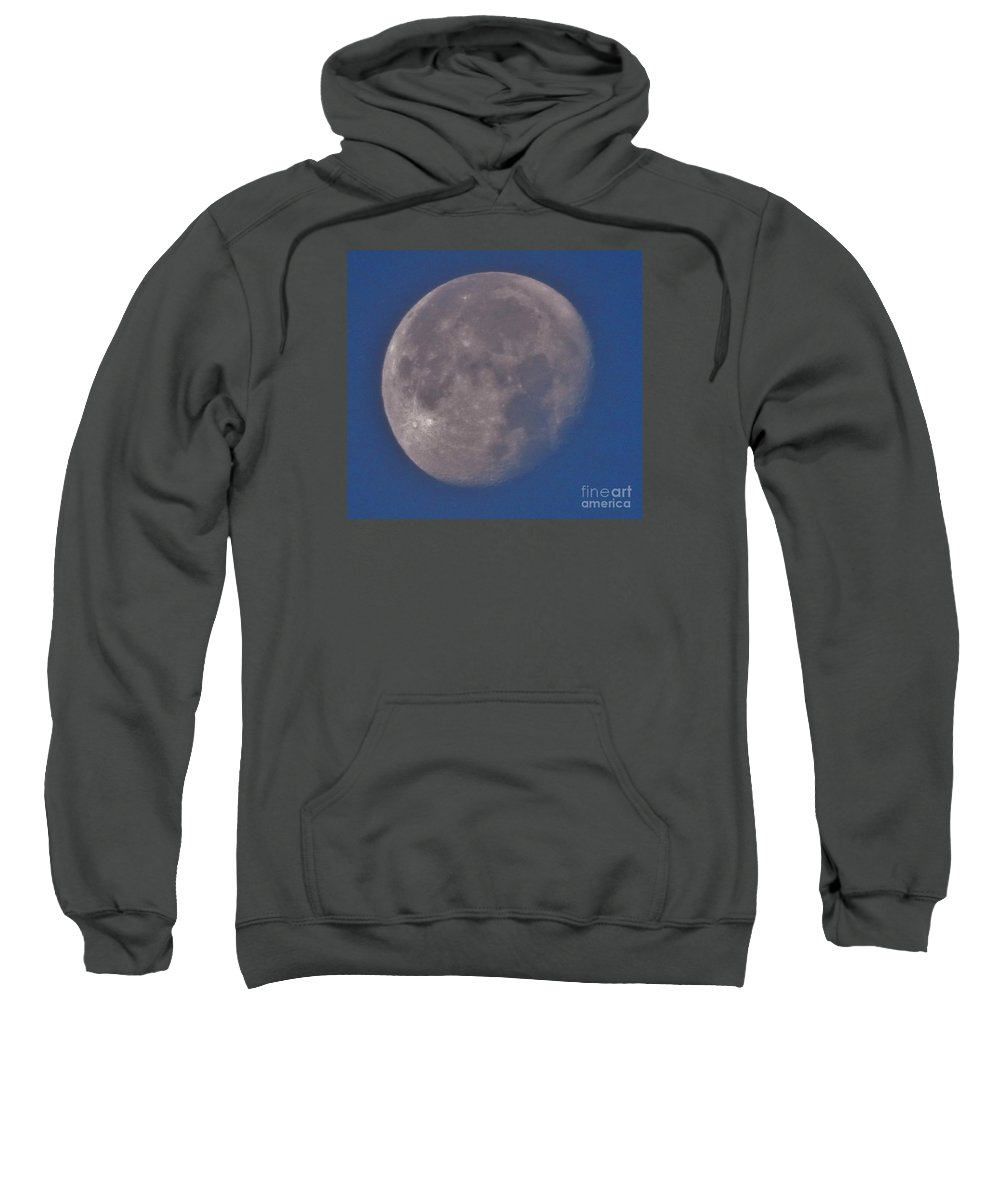 Moon Sweatshirt featuring the photograph Moon In Blue by CL Redding