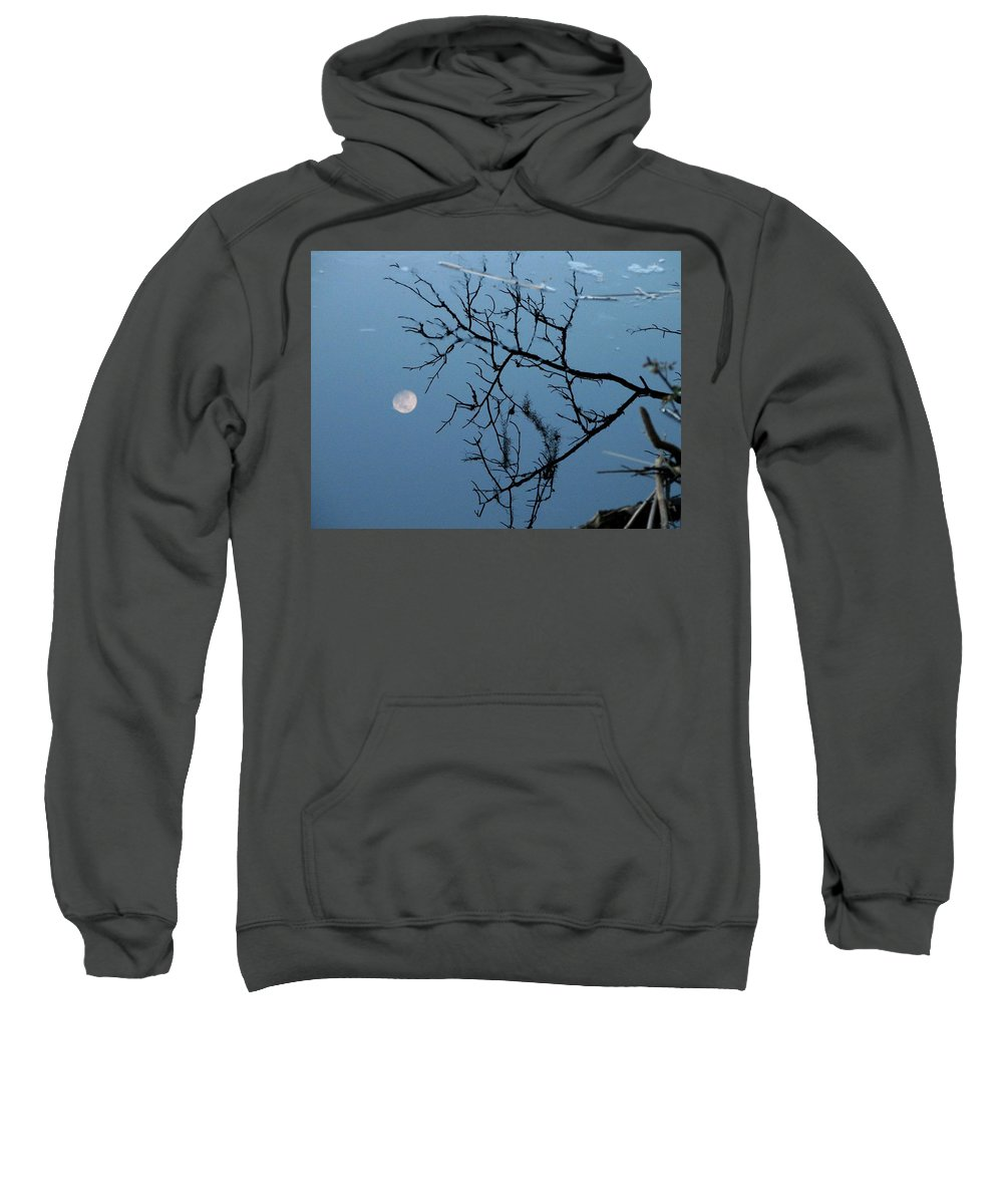 Moon Sweatshirt featuring the photograph Moon Reflection by J M Farris Photography