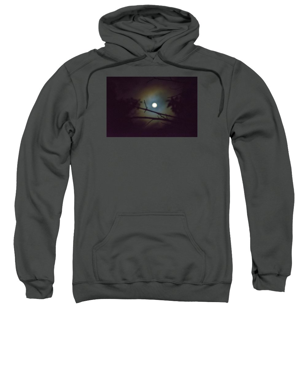 The Moon Sweatshirt featuring the photograph Moonlight And Tree 3 by Totto Ponce