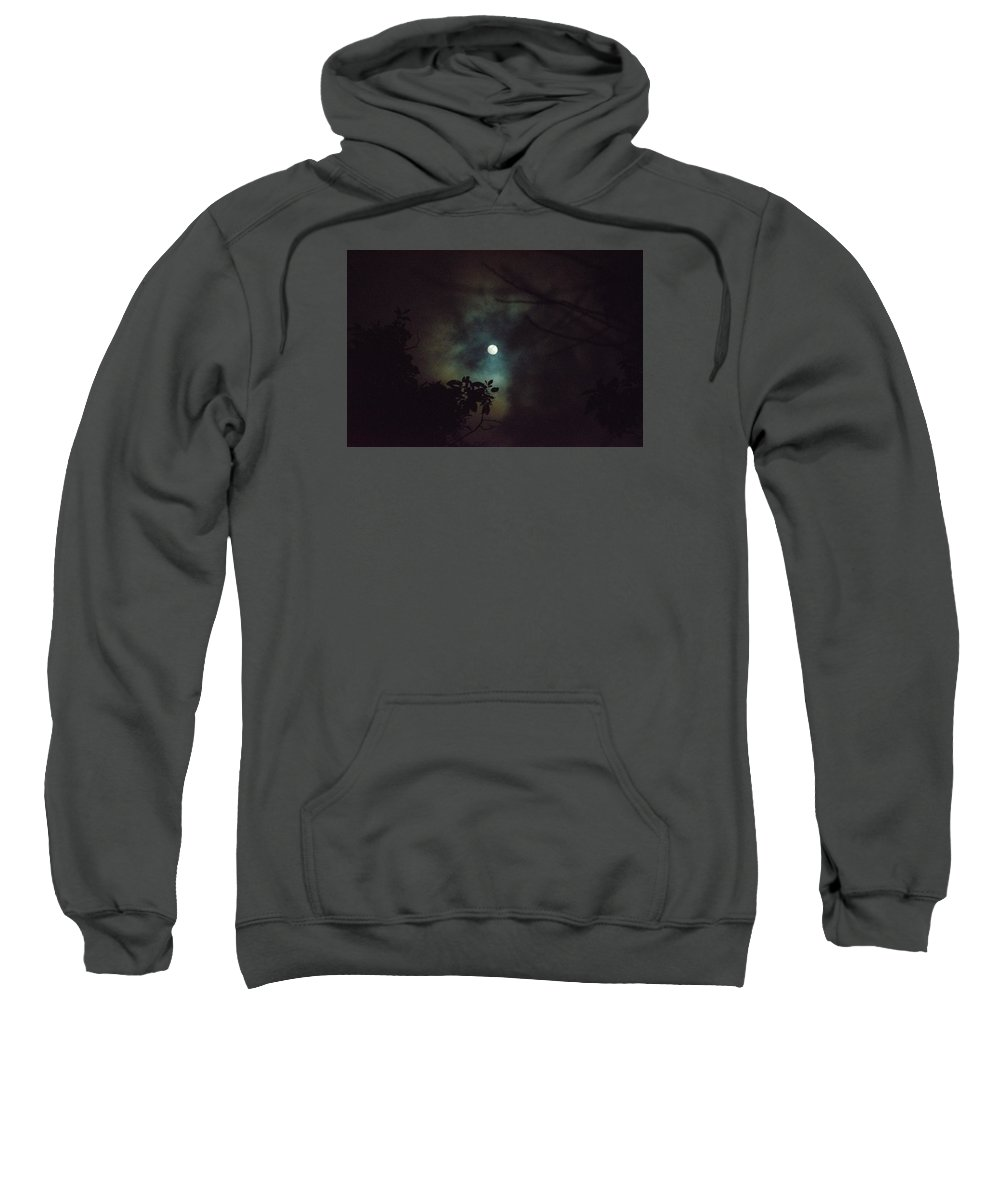 The Moon Sweatshirt featuring the photograph Moonlight And Tree 4 by Totto Ponce