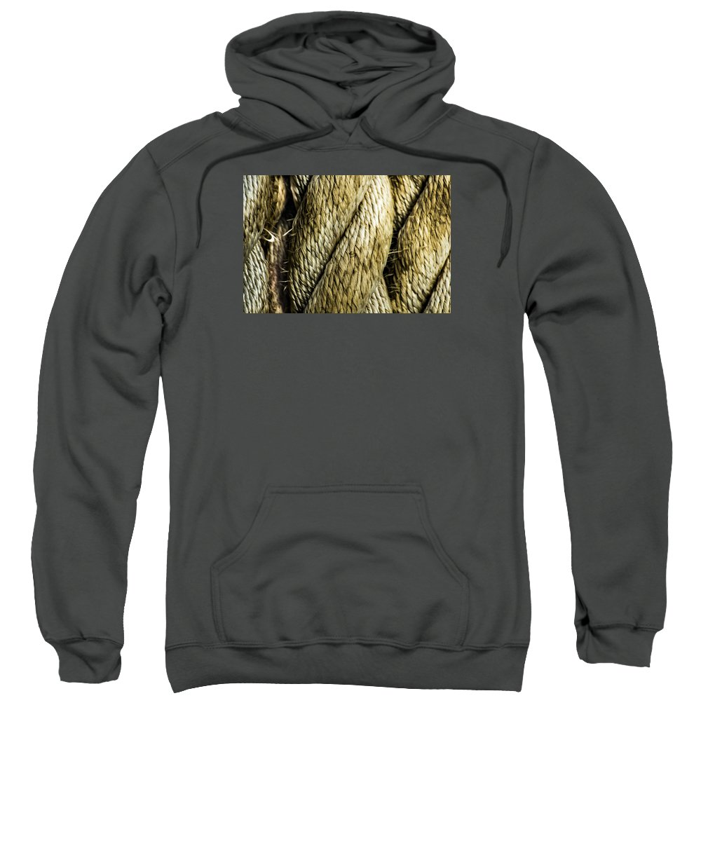 Macro Sweatshirt featuring the photograph Mooring Line by Will Akers