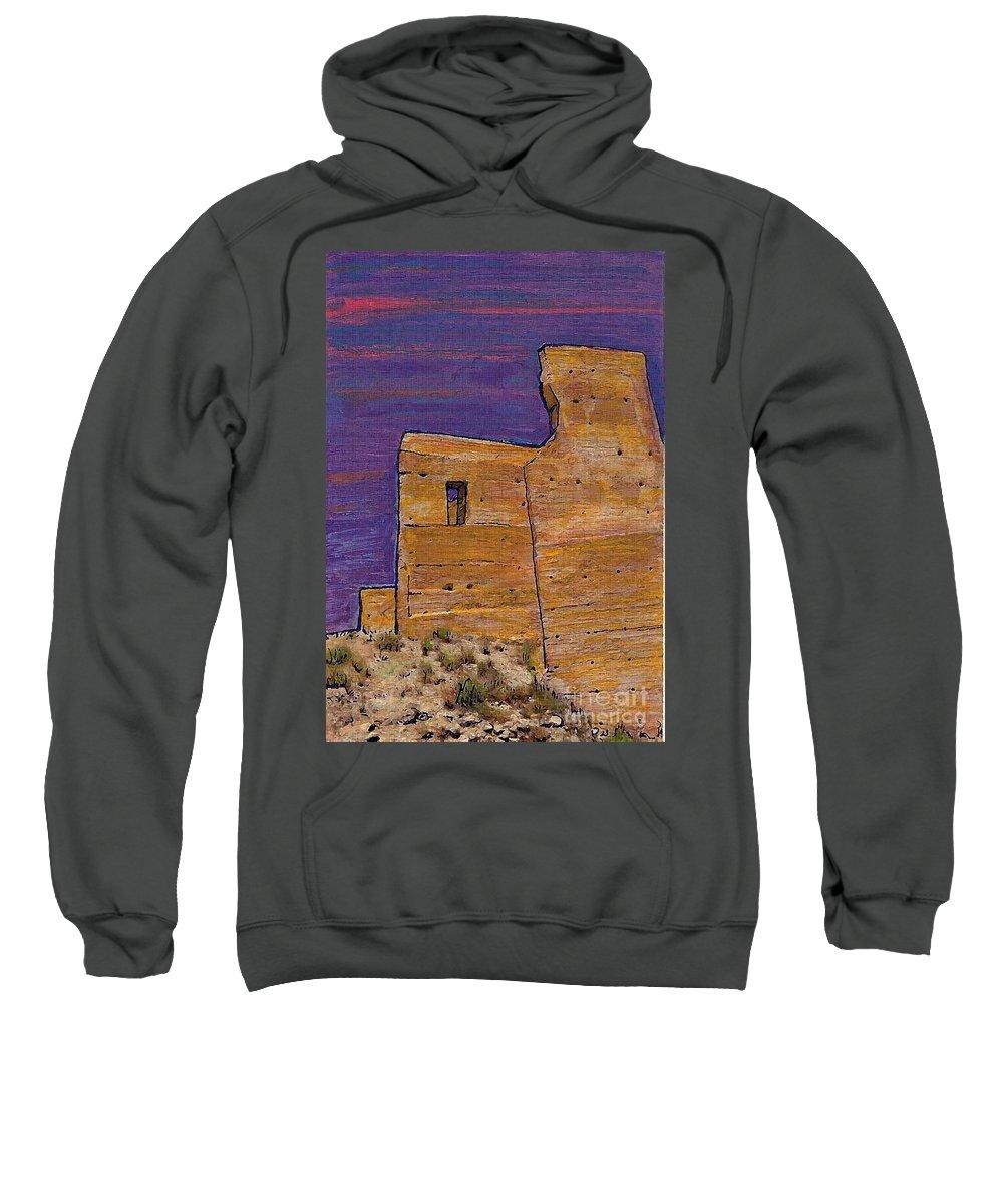 Moorish Fort In Jumilla Sweatshirt featuring the photograph Moorish Fort In Jumilla by Sarah Loft