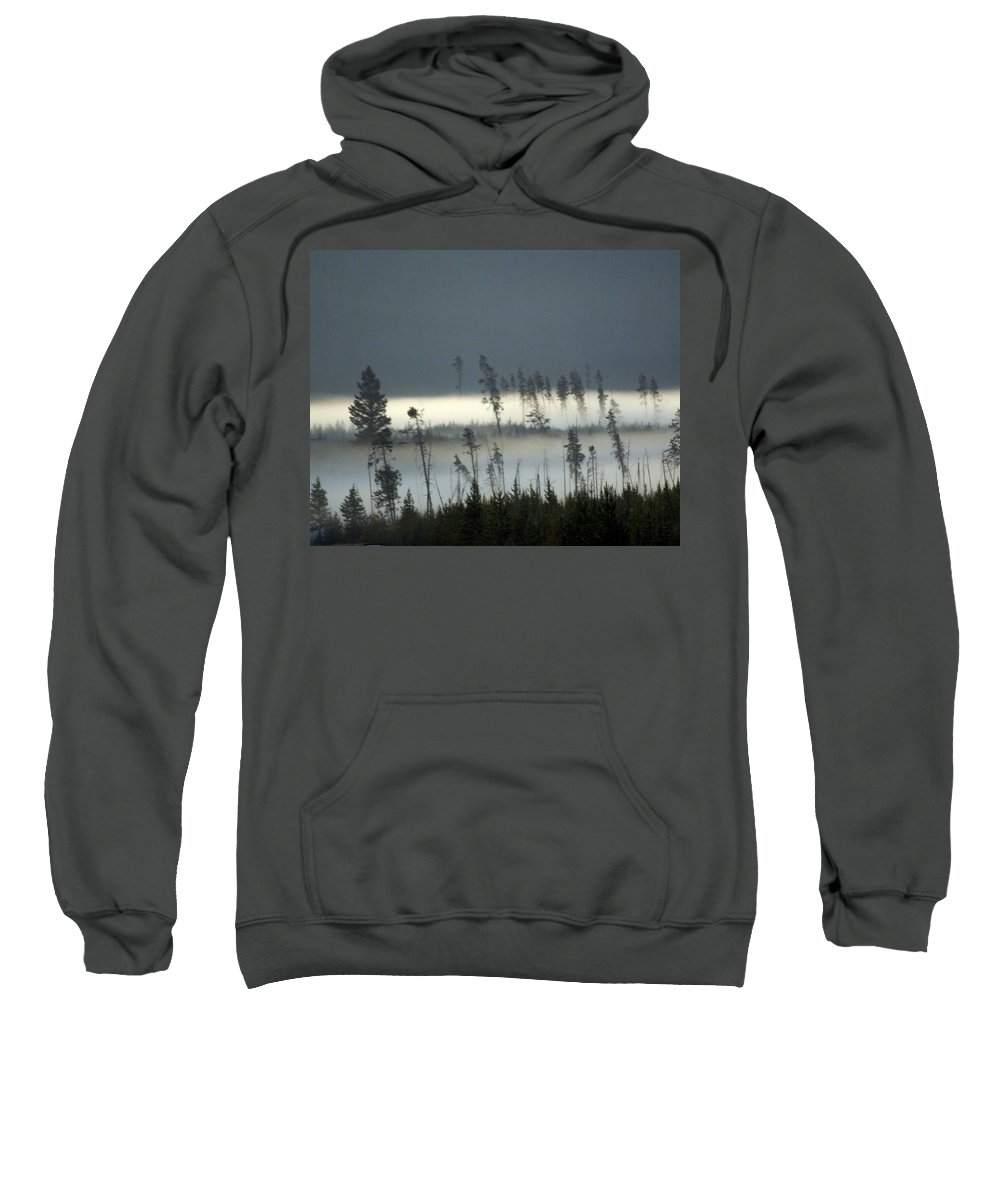 Yellowstone National Park Sweatshirt featuring the photograph Morning Along The Madison by Marty Koch
