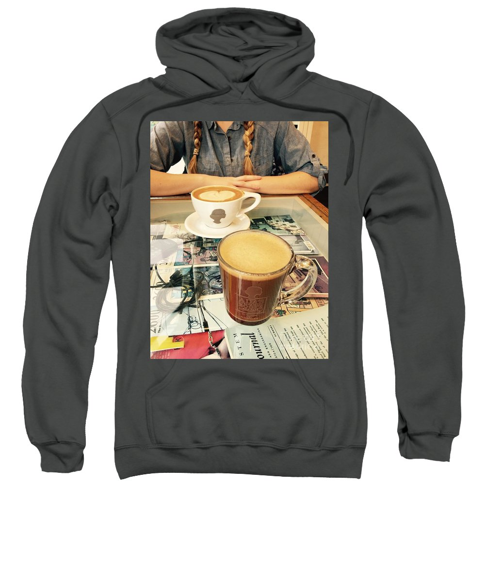 Coffee Sweatshirt featuring the photograph Morning Coffee by LeLa Becker