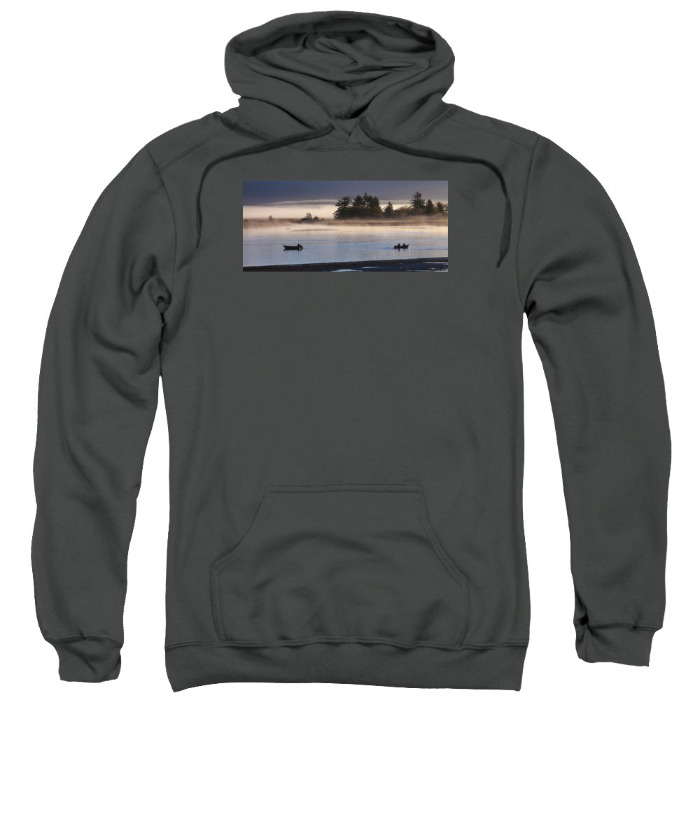 Sunrise Sweatshirt featuring the photograph Morning Fishing 3 by Jim Young