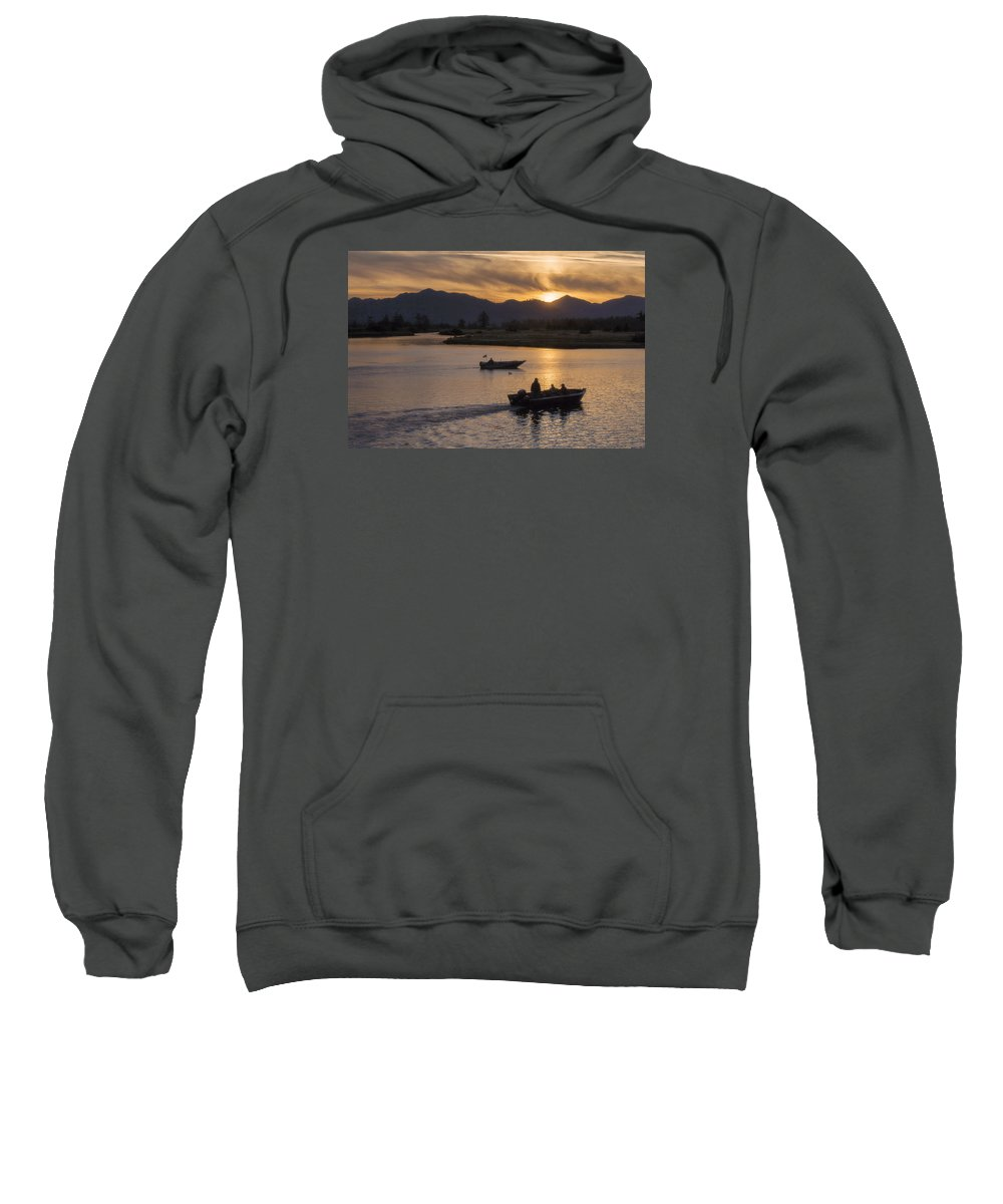 Sunrise Sweatshirt featuring the photograph Morning Fishing 4 by Jim Young