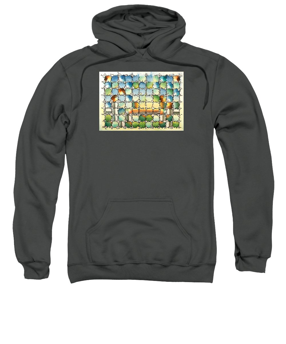 Watercolor Sweatshirt featuring the painting Morning Gateway by Dave Martsolf