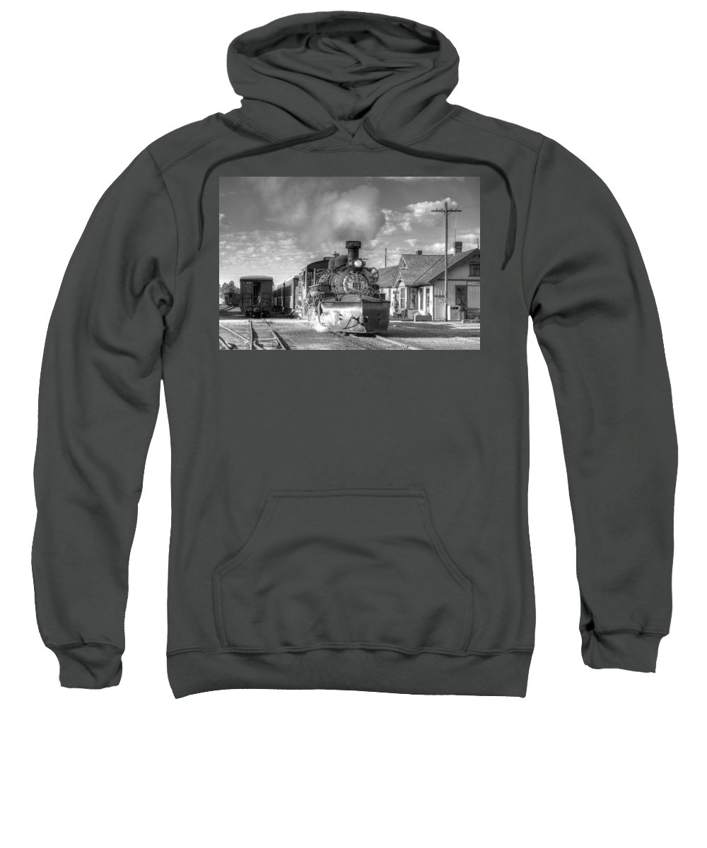 Steam Train Photographs Sweatshirt featuring the photograph Morning Special by Ken Smith