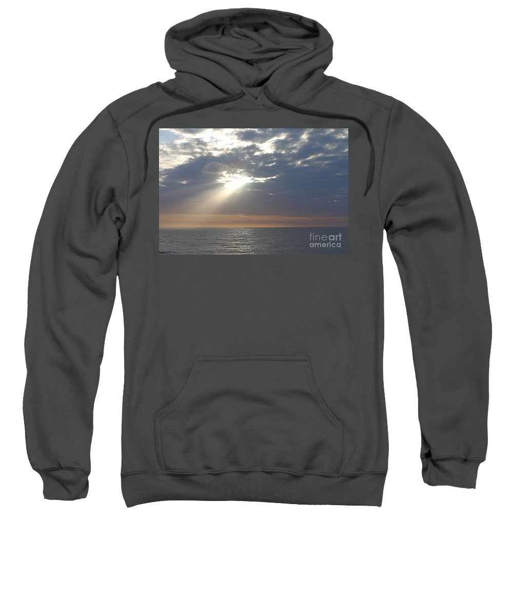 Sky Sweatshirt featuring the photograph Morning Sunburst by Nadine Rippelmeyer