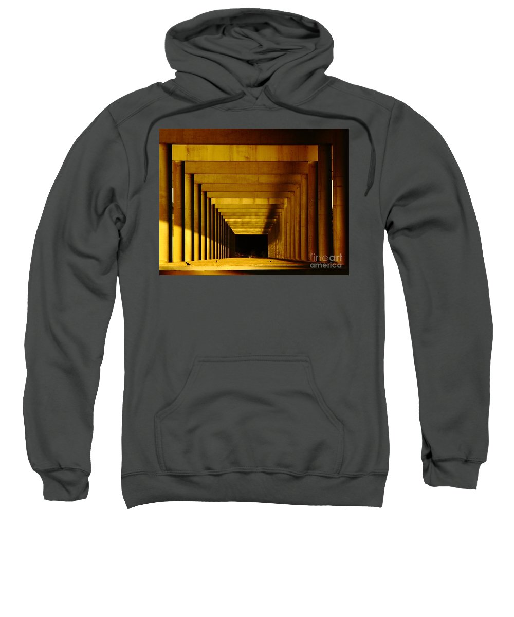 Perspective Sweatshirt featuring the photograph Morning Under The Bridge by Robert Frederick