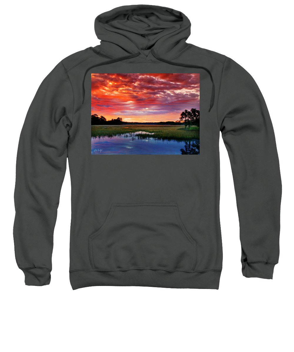 Canvas Sweatshirt featuring the photograph Morning View by Phill Doherty