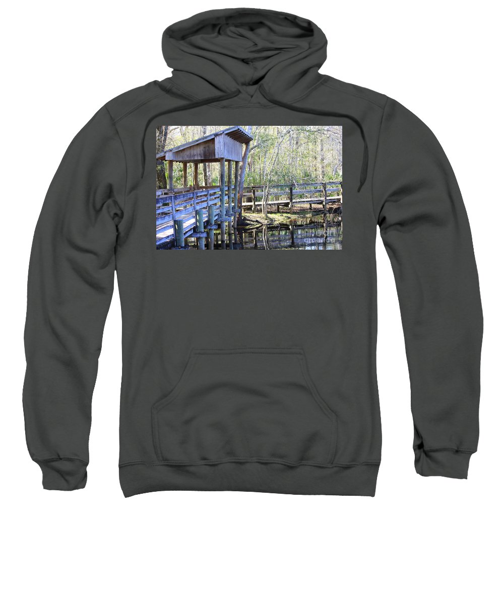 Morris Bridge Sweatshirt featuring the photograph Morris Bridge by Carol Groenen