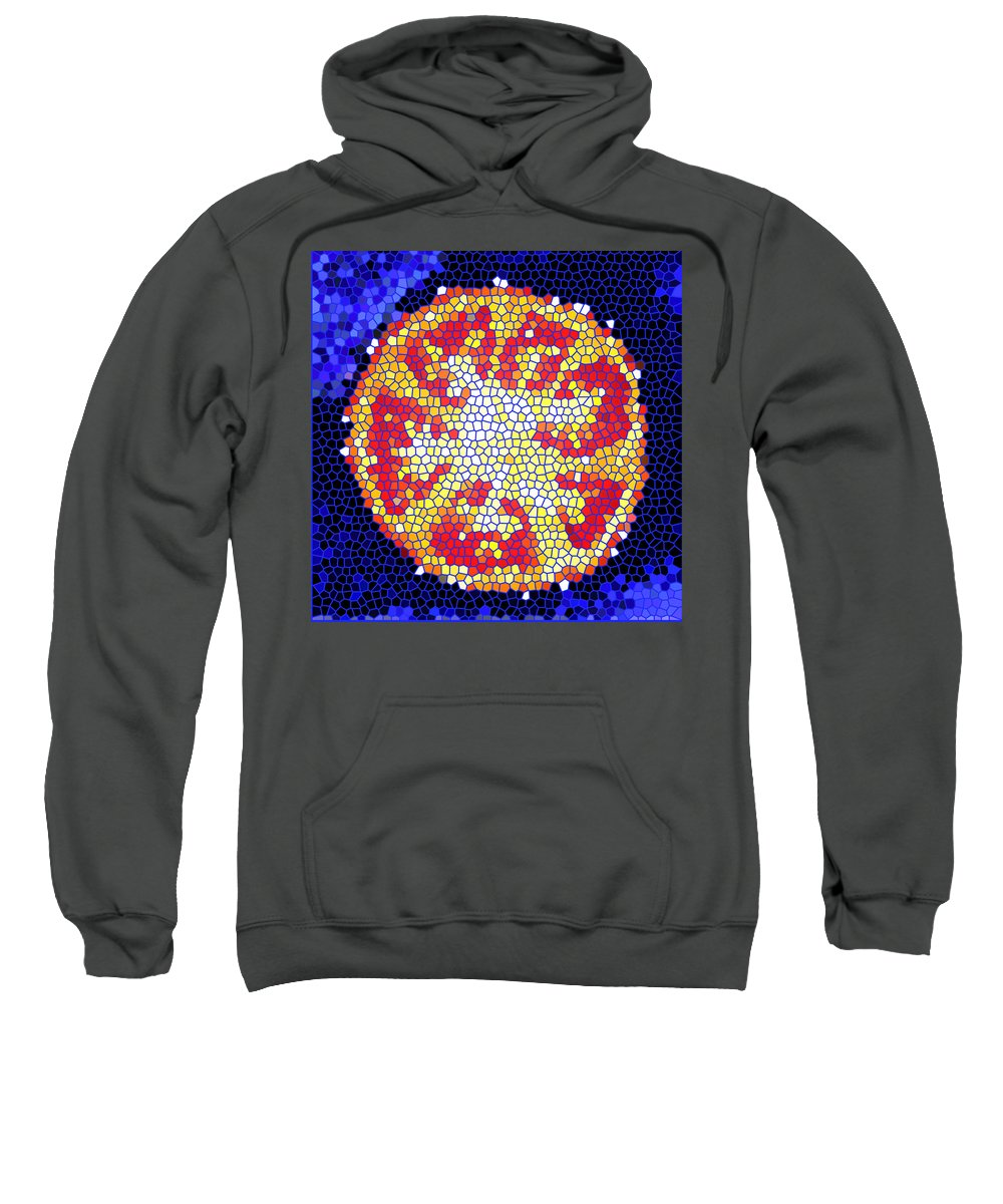 Tomato Sweatshirt featuring the photograph Mosaic Tomato by Nancy Mueller
