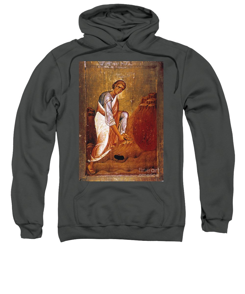 12th Century Sweatshirt featuring the photograph Moses Before Burning Bush by Granger