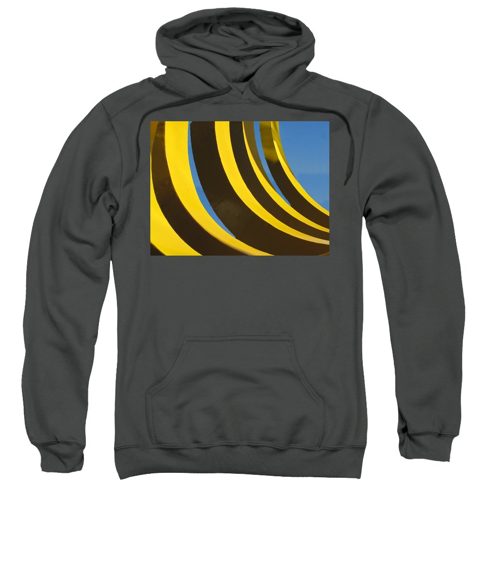 Abstract Sweatshirt featuring the photograph Mostly Parabolic by Rick Locke