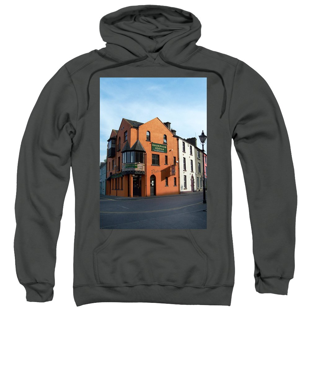 Ireland Sweatshirt featuring the photograph Mother India Restaurant Athlone Ireland by Teresa Mucha