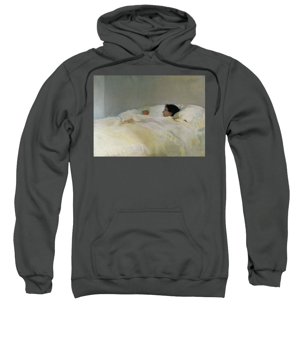 Mother Sweatshirt featuring the painting Mother by Joaquin Sorolla y Bastida