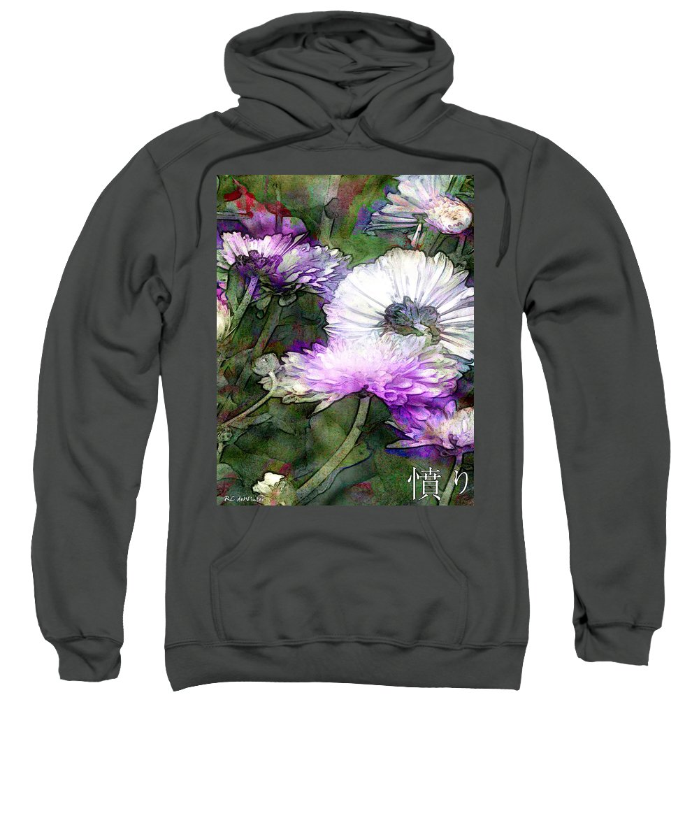 Flowers Sweatshirt featuring the painting Motif Japonica No. 12 by RC DeWinter