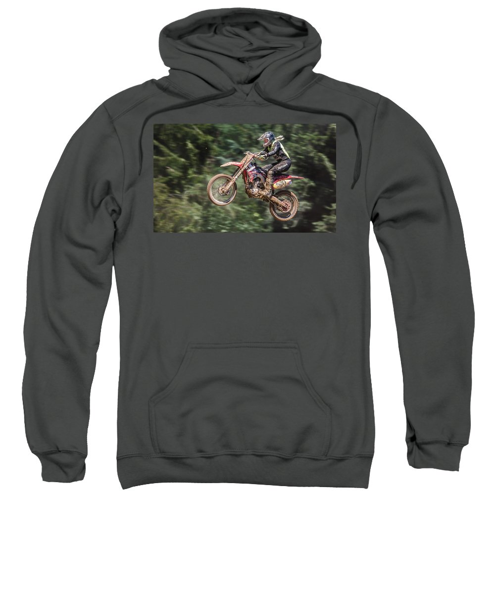Motocross Sweatshirt featuring the digital art Motocross by Bert Mailer