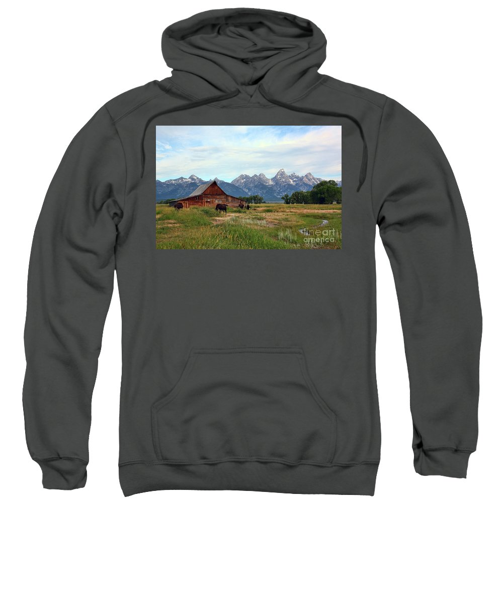 Moulton Barn Sweatshirt featuring the photograph Moulton Barn by Teresa Zieba