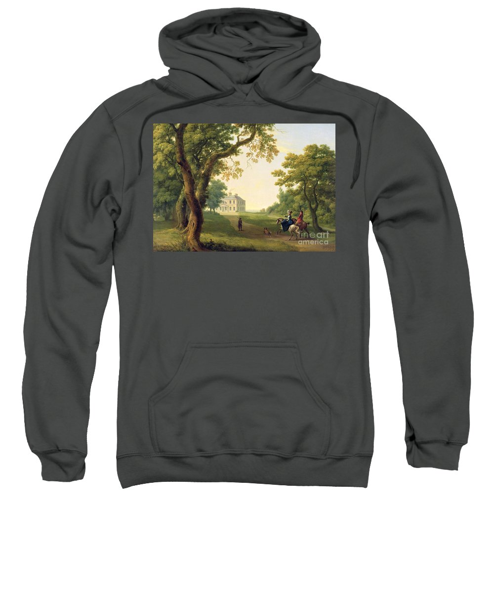 Mount Sweatshirt featuring the painting Mount Kennedy - County Wicklow by William Ashford
