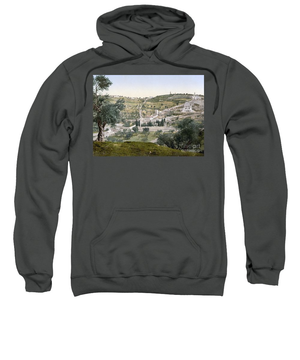 1900 Sweatshirt featuring the photograph Mount Of Olives, C1900 by Granger