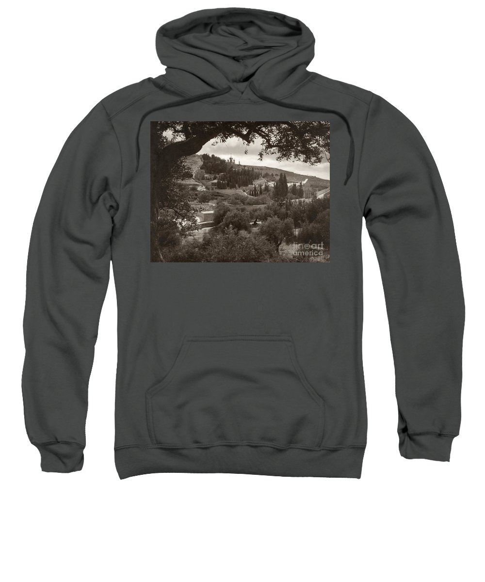 1930 Sweatshirt featuring the photograph Mount Of Olives by Granger