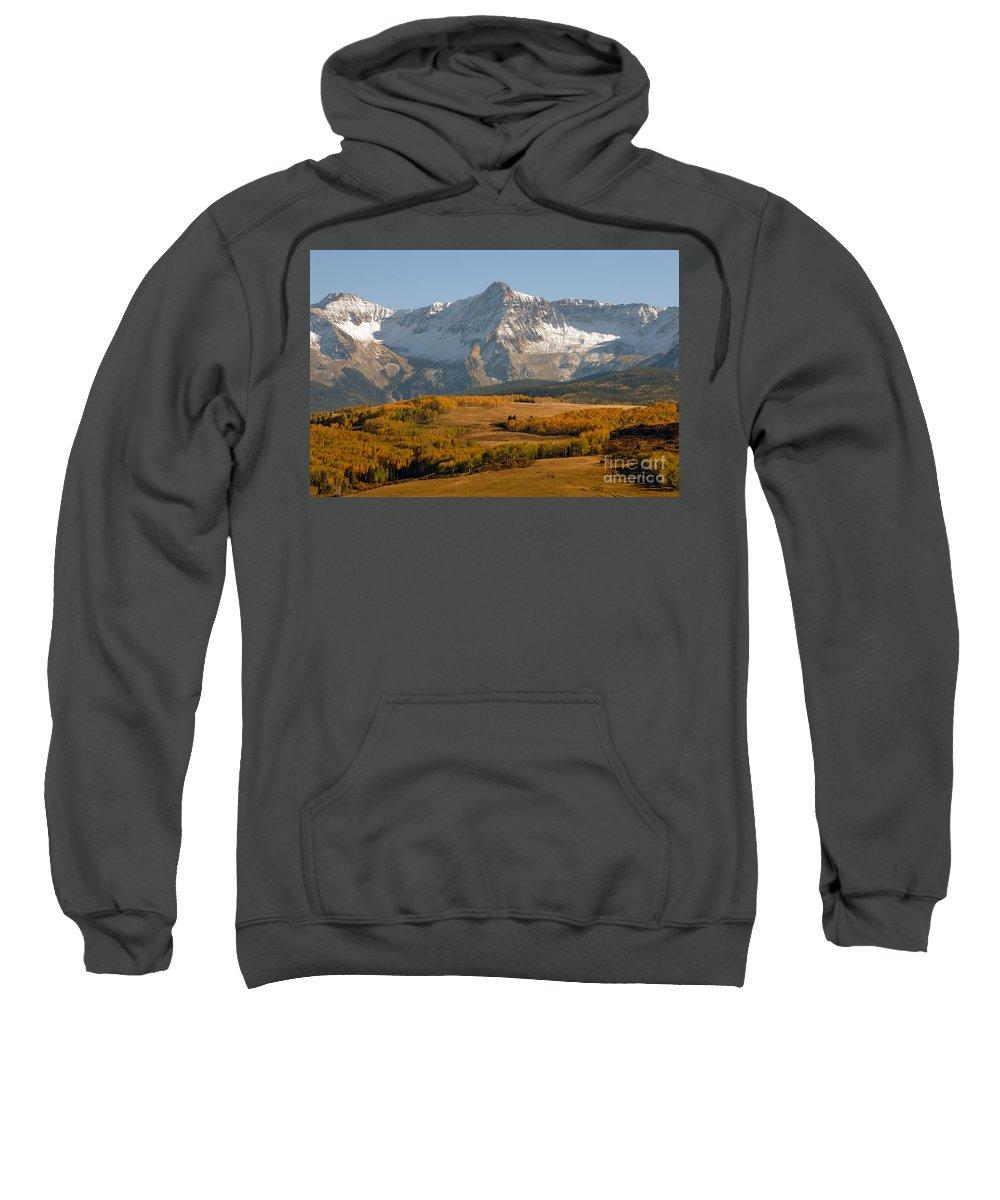 Mount Sneffels Sweatshirt featuring the photograph Mount Sneffels by David Lee Thompson