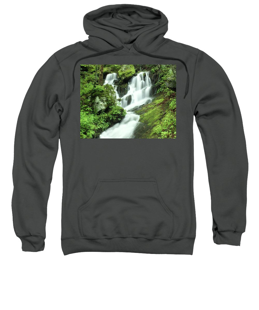 Waterfalls Sweatshirt featuring the photograph Mountain Falls by Marty Koch
