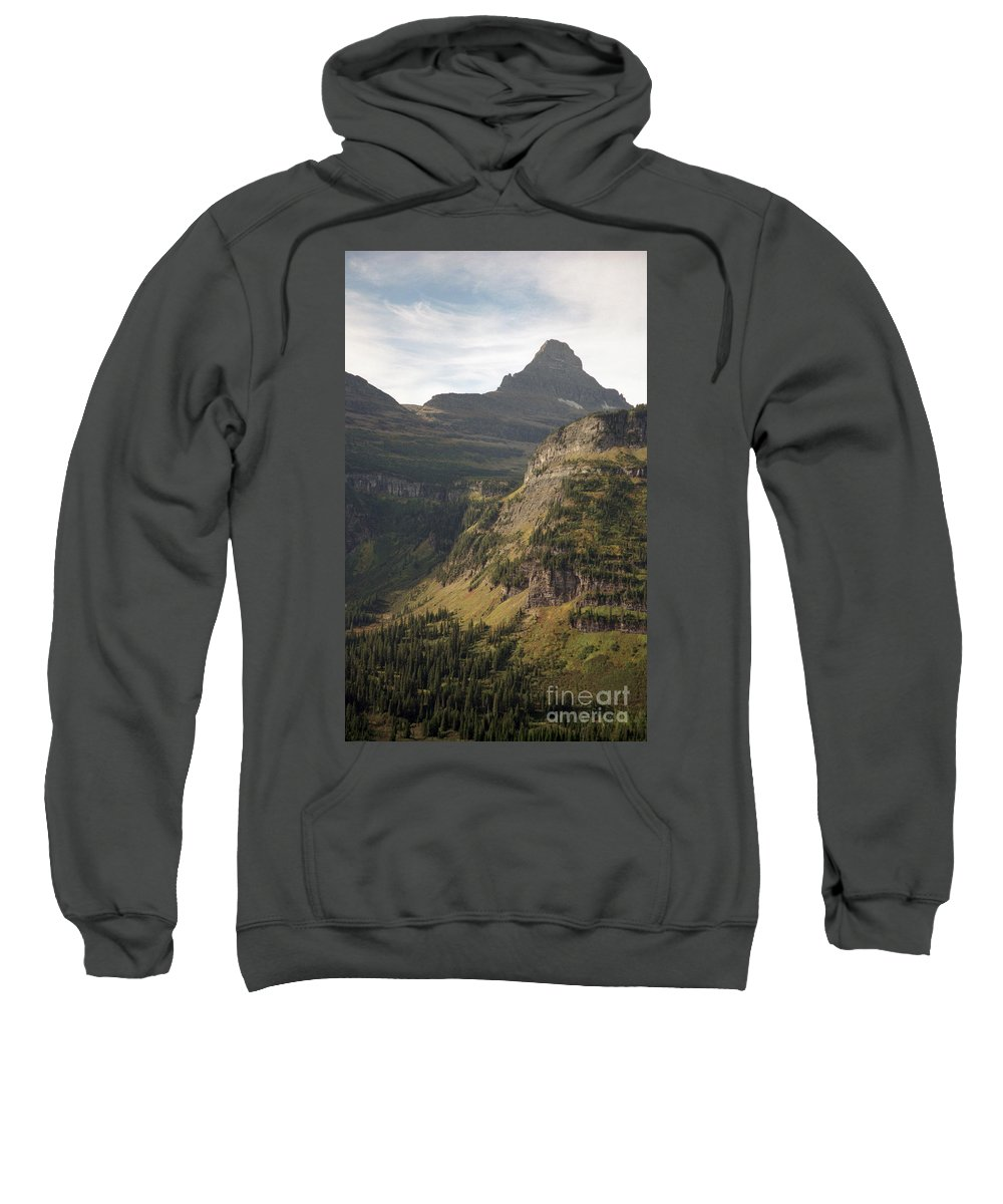 Glacier Sweatshirt featuring the photograph Mountain Glacier by Richard Rizzo