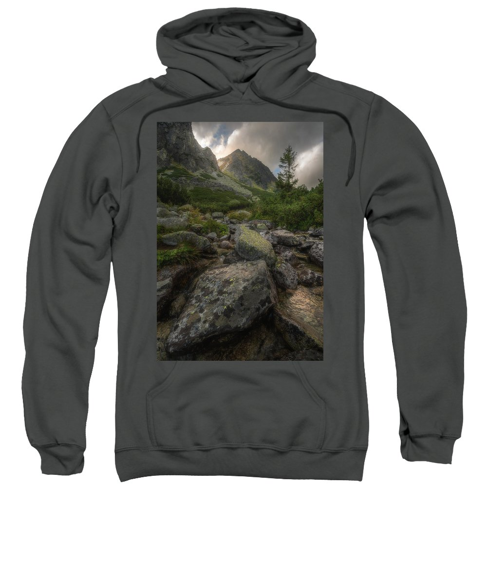 Sweatshirt featuring the photograph Mountain Landscape With A Creek by Karol Czinege