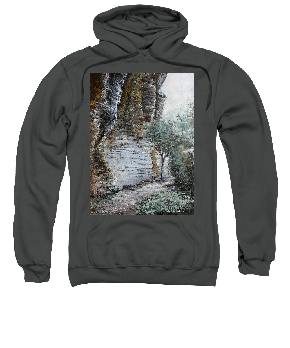 Landscape Sweatshirt featuring the painting Mountain Pass by Todd Blanchard
