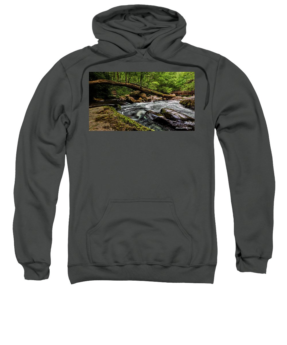 Christopher Holmes Photography Sweatshirt featuring the photograph Mountain Stream Iv by Christopher Holmes