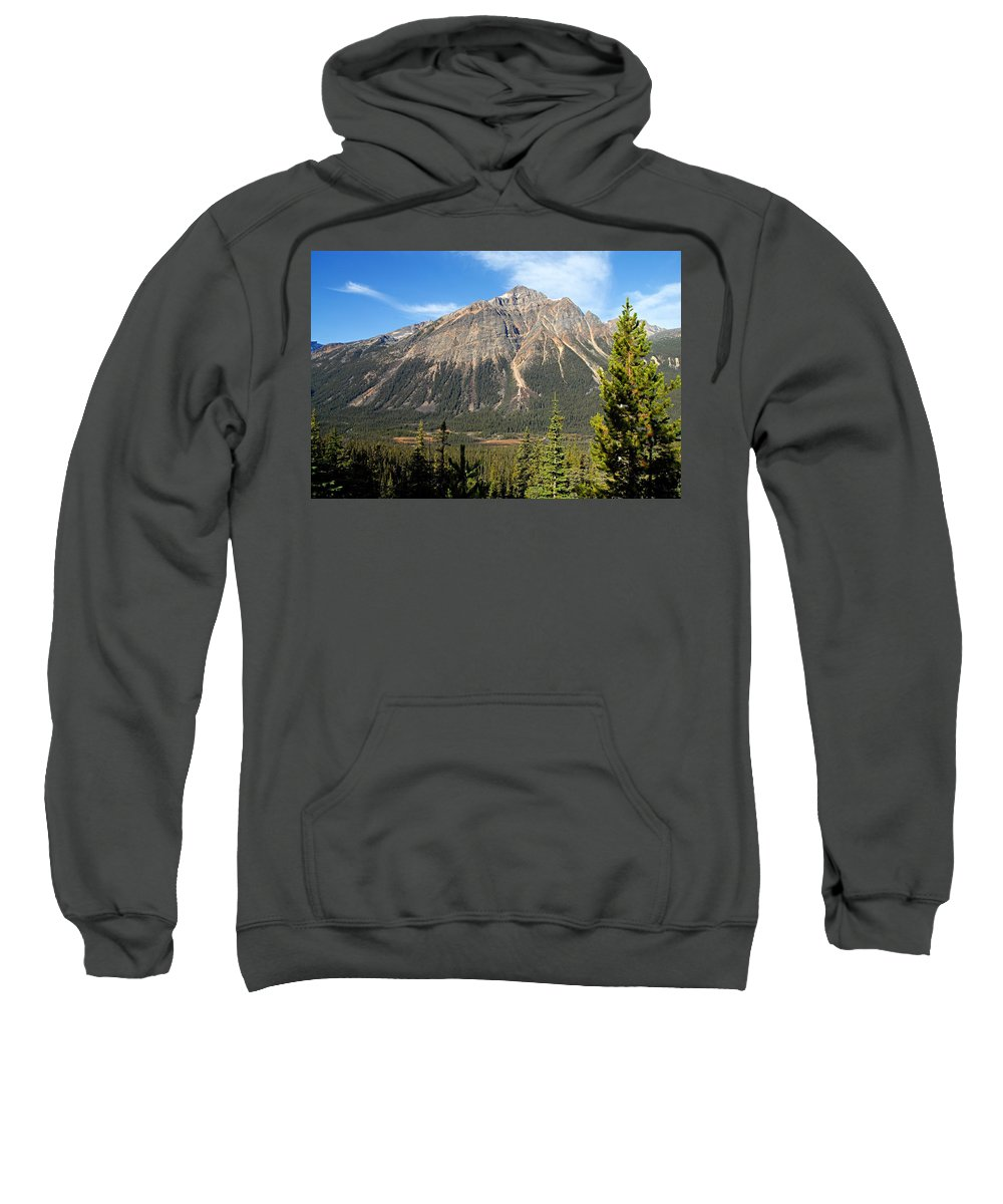 Jasper National Park Sweatshirt featuring the photograph Mountain View 1 by Larry Ricker