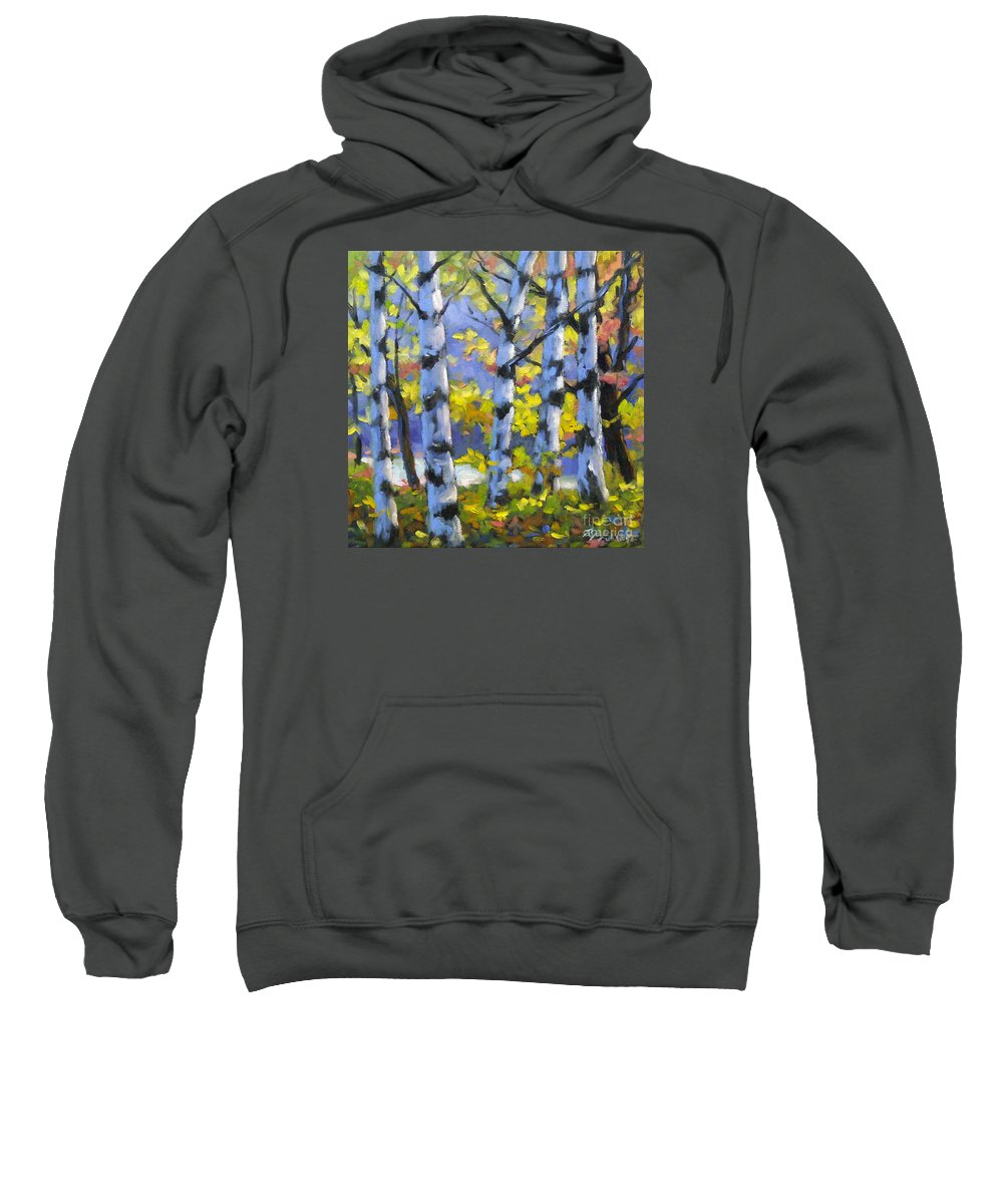Art Sweatshirt featuring the painting Mountain View by Richard T Pranke