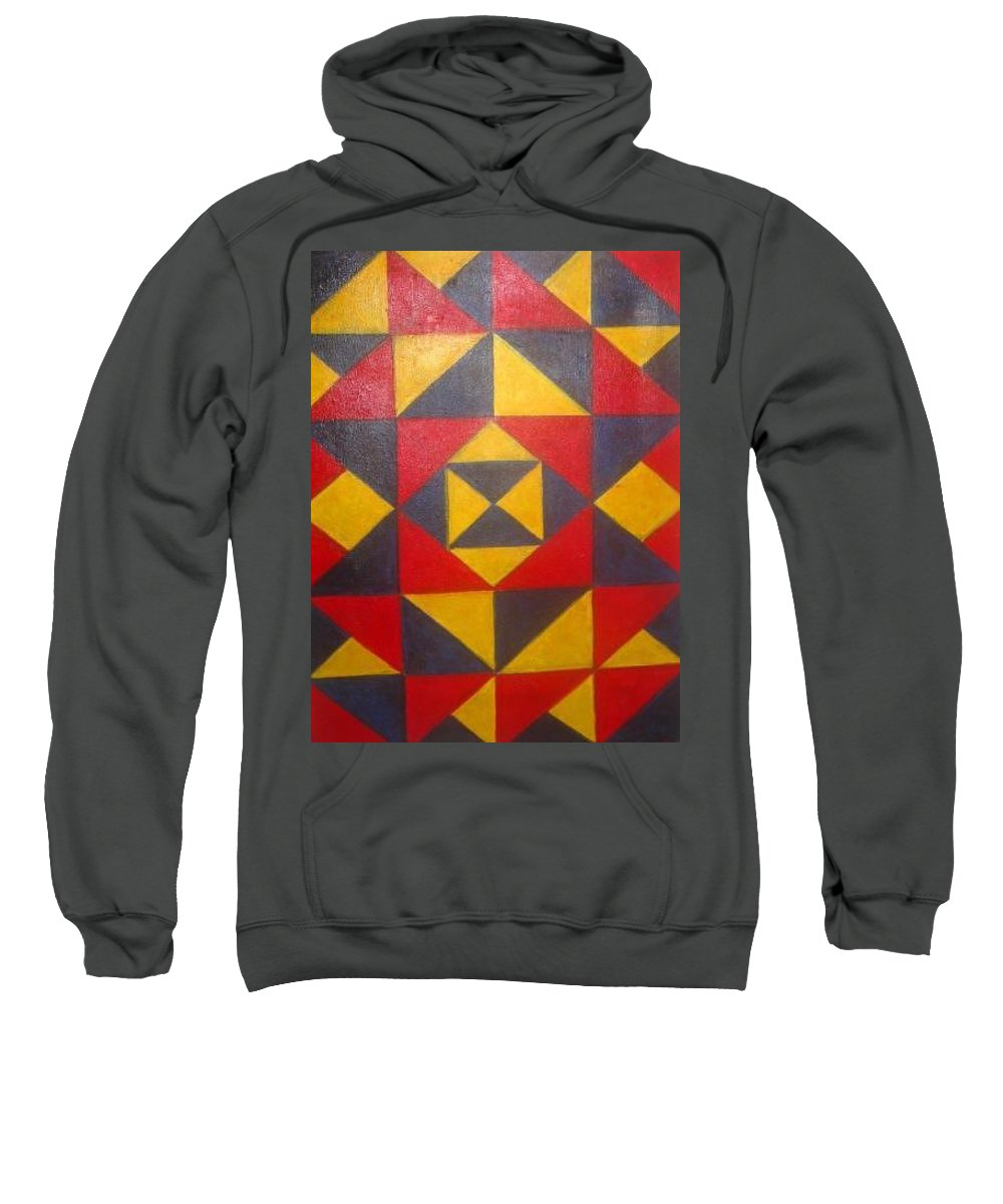 Abstract Sweatshirt featuring the painting Mountian Woman by Andrew Johnson